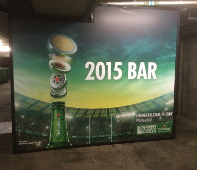 Stands & Graphics, Coca Cola & Heineken, Twickenham
